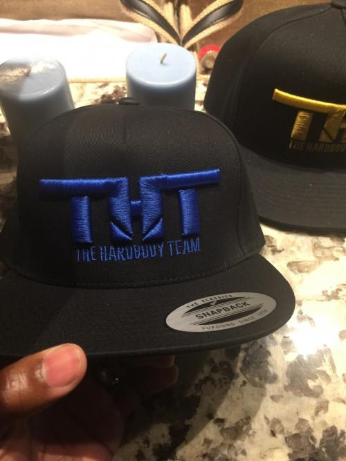 THT Snap Backs-Black and Blue - hardbodynutritional.com