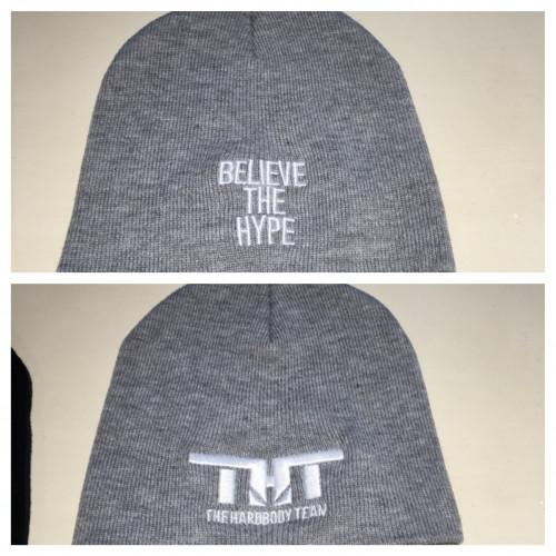 THT Beenie-Grey and White