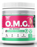 OMG Natural, Organic Pre Workout Mix – Caffeine, Creatine, L Citrulline, L Tyrosine, Beta Alanine, Synephrine, & COQ10 Supplement Powder for Women & Men – Preworkout Weight Loss, Fat Burn, Muscle Gain