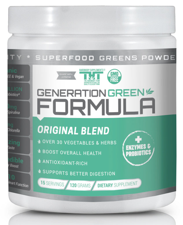 Generation Greens Powder - Best Green Superfood Powder - hardbodynutritional.com