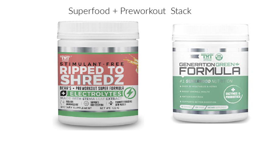 Superfood and Preworkout Stack