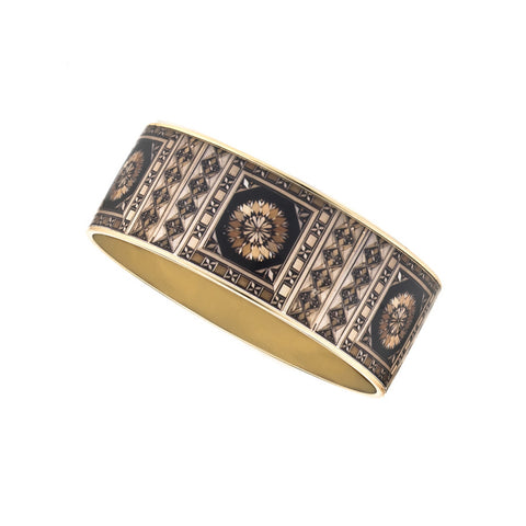 MAYA Russian Marquetry Bangle Bracelet 1""