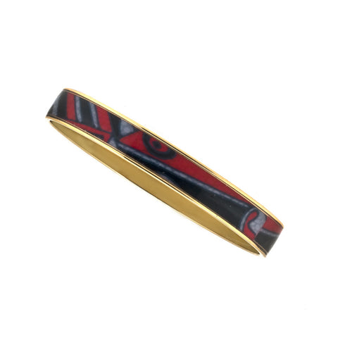 MAYA Abstract Expressionism Bangle Bracelets 3/8""