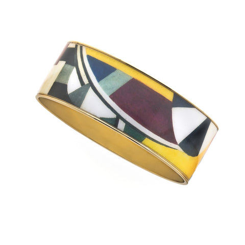 MAYA Geometric Blocks Bangle Bracelet 1""