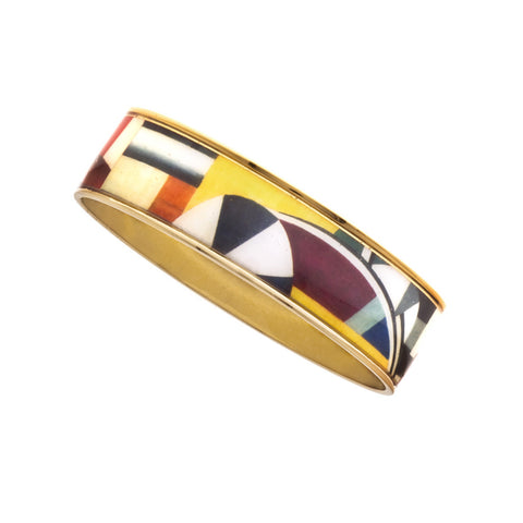 MAYA Geometric Blocks Bangle Bracelet 3/4""
