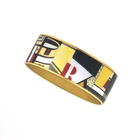 MAYA Geometric Red R Bangle Bracelet 1""