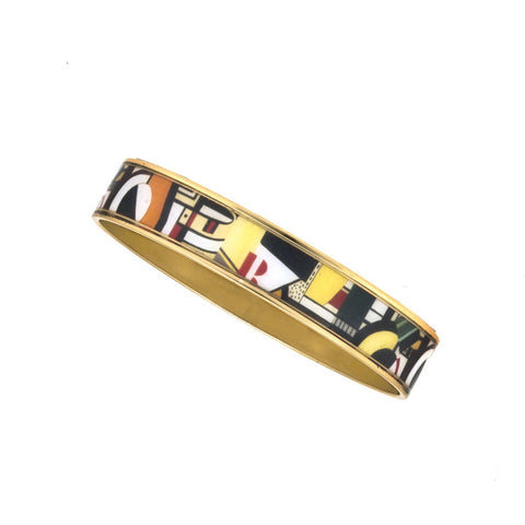 MAYA Geometric Red R Bangle Bracelet 1/2""