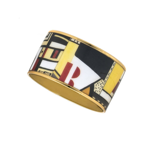 MAYA Geometric Red R Bangle Bracelet 1 1/2""