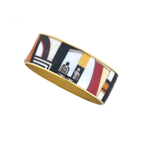 MAYA Geometric People Bangle Bracelet 1""