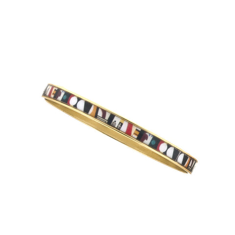 MAYA Geometric People Bangle Bracelet 1/4""