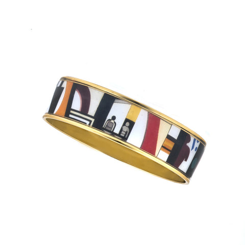 MAYA Geometric People Bangle Bracelet 3/4""
