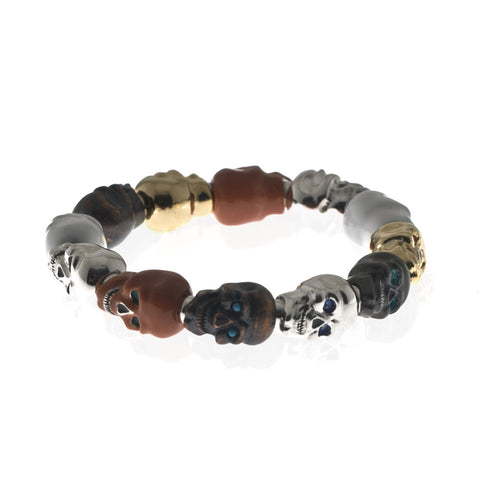 Lucky Skull Stretch Bracelet Large