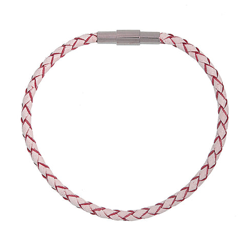 Barcelona Pink Leather Bracelet