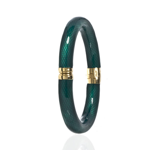 Gold Tone Green Snakeskin Bracelet Small
