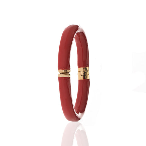 Opaque Crimson Bangle Bracelet
