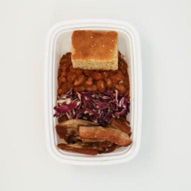 BBA Pork Plate in Meal Prep Reno prep containers