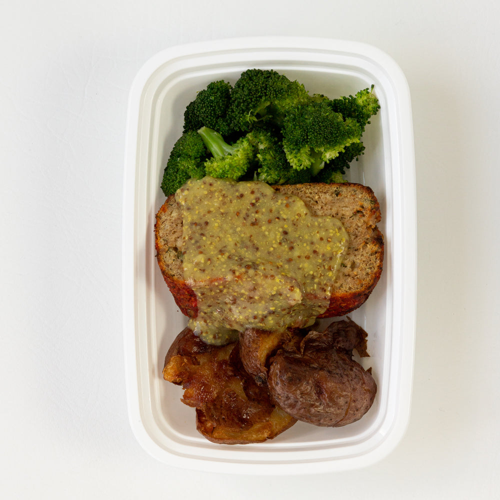 Calabrian Chili Meatloaf & Whole Grain Mustard Gravy