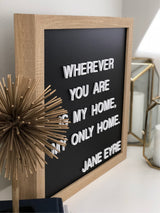 Petal Lane Home letterlove Letter Board with White Magnetic Letters Side View Dimensional Letters