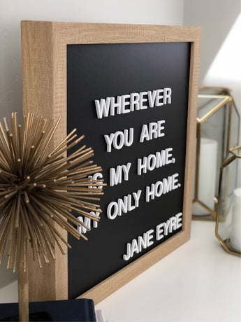 Petal Lane Home Medium Ebony  letterlove Board (Square) Magnet Letter Board
