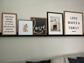 PETAL LANE HOME FRAMED QUOTE LOVE