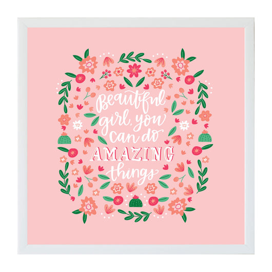 Petal Lane Home Alexa Beautiful Girl Amazing Things Magnet Board Perfect for Little Girls Room