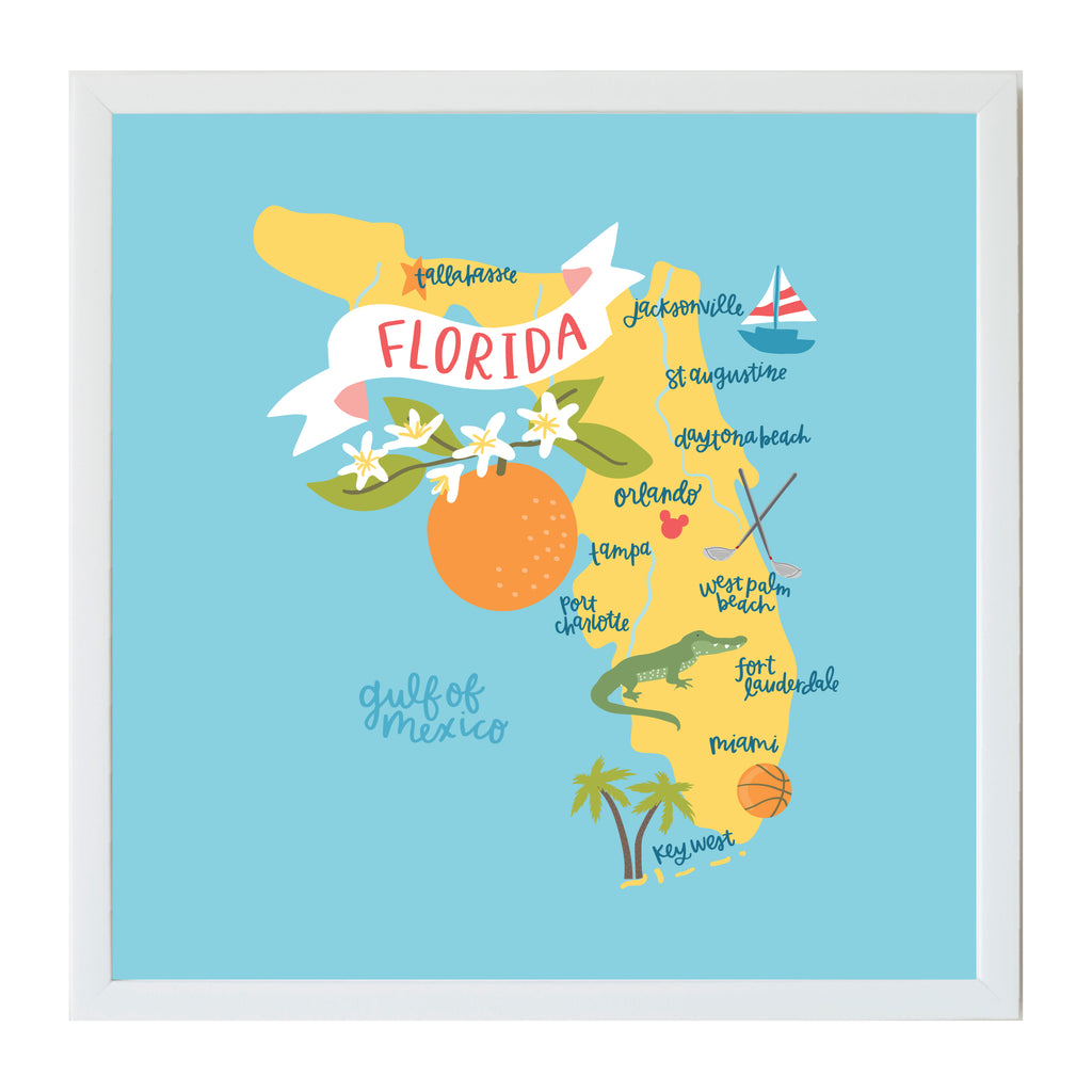 Flordia State Map.Alexa Destinations Florida State Map Magnet Board Petallane