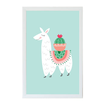 PetaL Lane Home Alexa Llama and Cactus Magnet Board