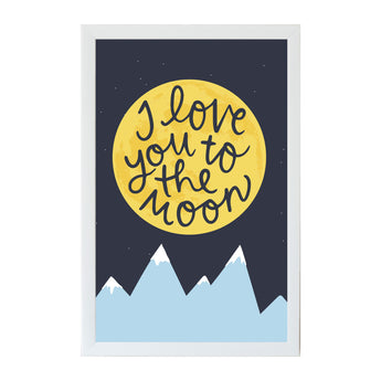 Petal Lane Home Alexa I Love You to the Moon Magnet Board for Kids