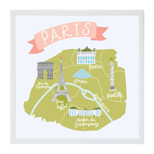 Petal Lane Home Alexa Destinations Paris Map Magnet Board