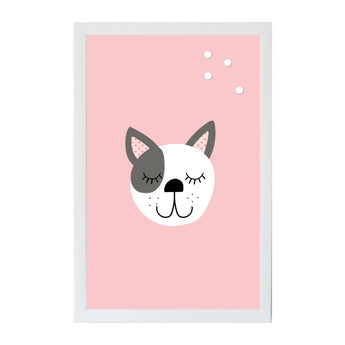 Petal Lane Home Alexa Dog Pink Magnet Board for Kids