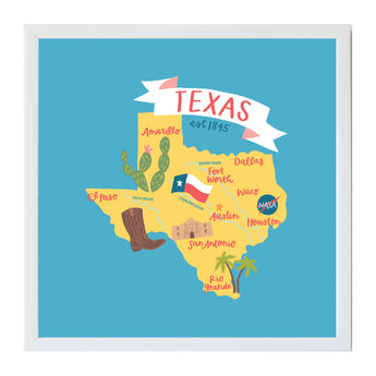 Alexa Destinations Texas State Map Magnet Board