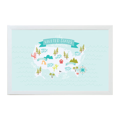 Alexa Destinations United States Map Magnet Board