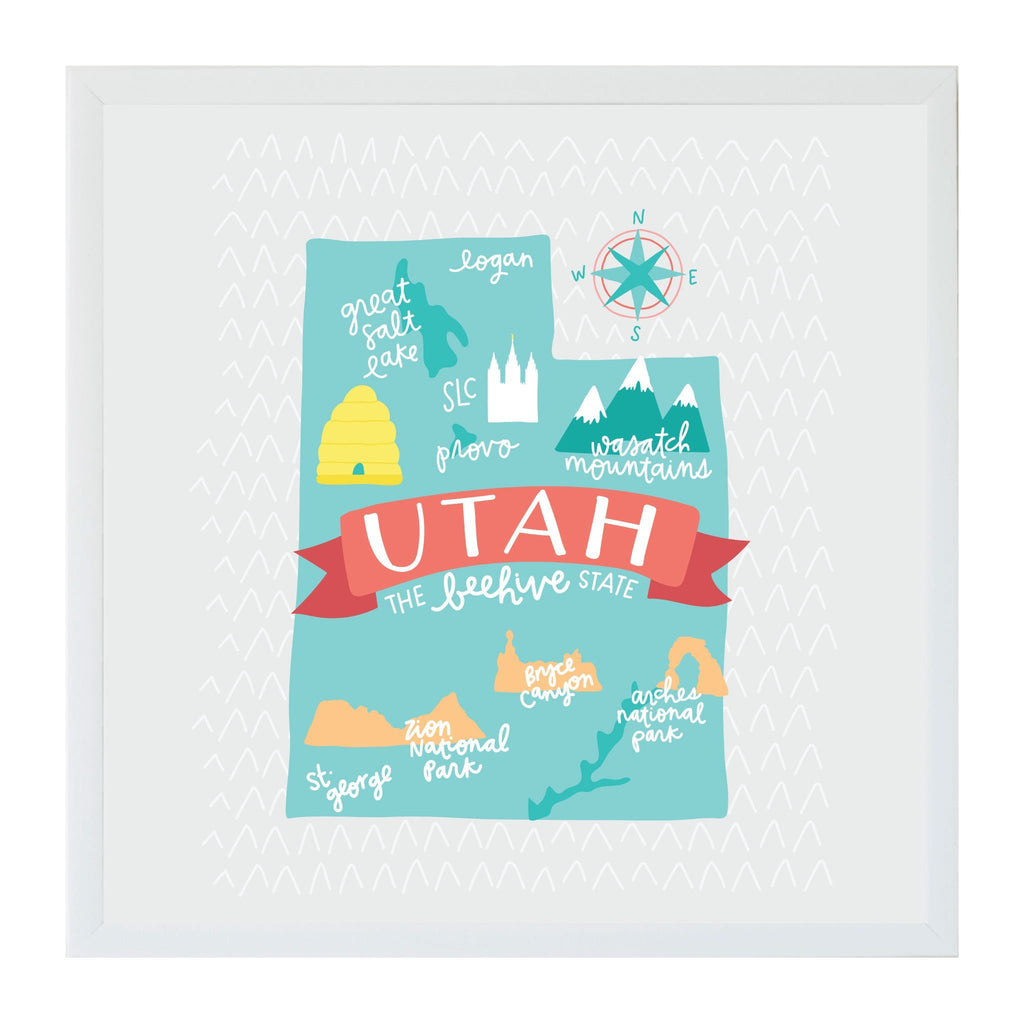 Alexa Destinations Utah State Map Magnet Board