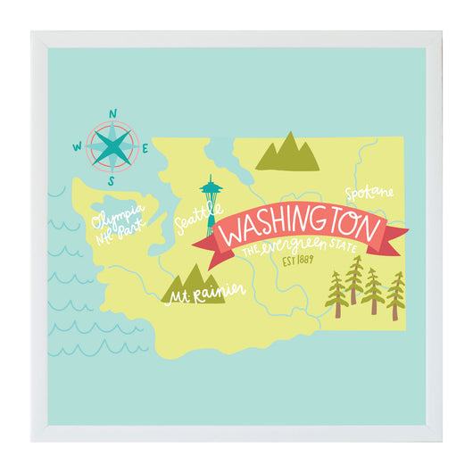 New Alexa Destinations Washington State Map
