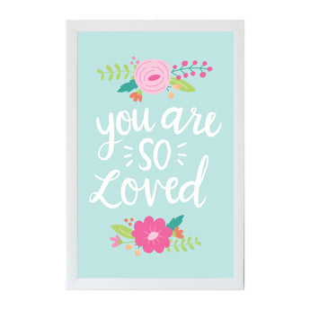 Petal Lane Home Alexa You are so Loved Magnet Board with Raised Letter Option