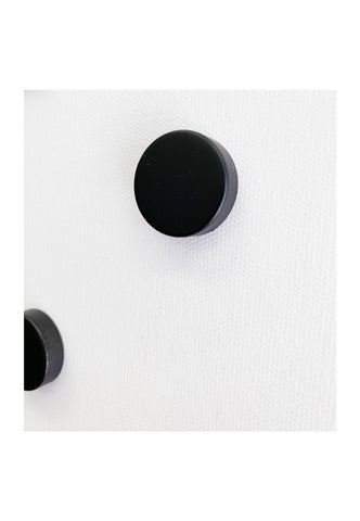 Glass Magnetic Black Circle Dry Erase Board