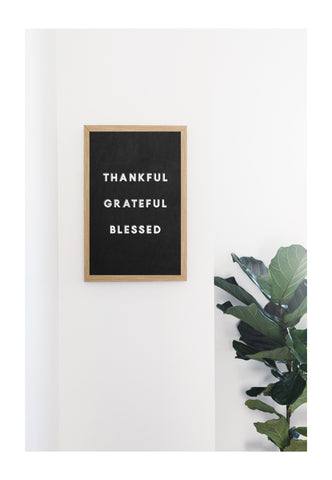 Chalkboard Thankful Grateful Blessed