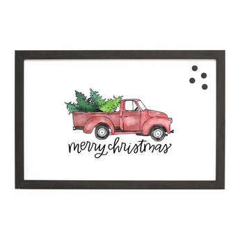 Petal Lane Home Christmas Seasonal Christmas Truck Magnet Board