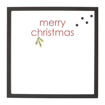 Christmas Seasonal Merry Christmas Sprig Magnet Board