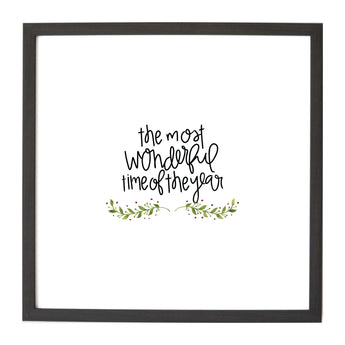 Petal Lane Home Christmas Seasonal The Most Wonderful Time Magnet Board
