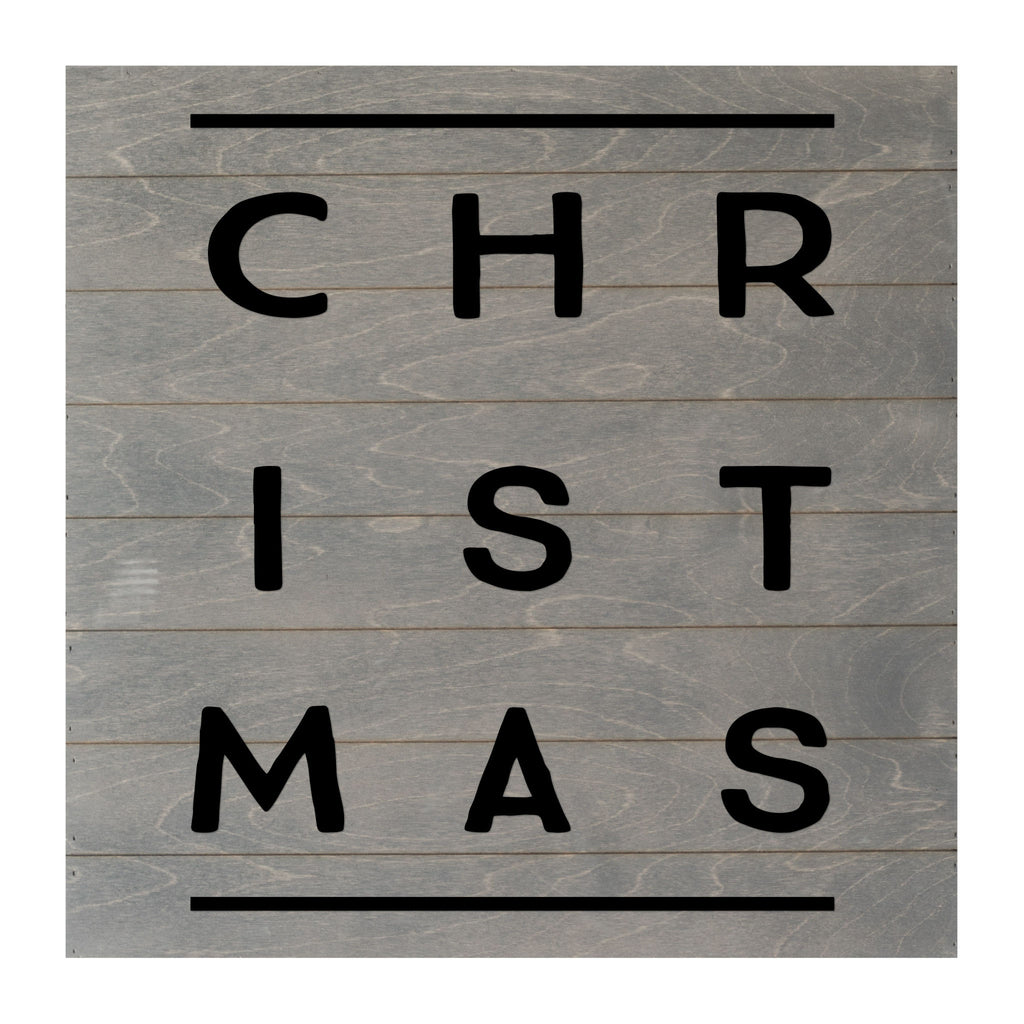 Christmas Seasonal Real Wood Slat Board Christmas