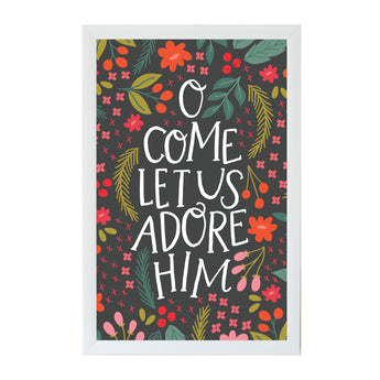 Petal Lane Home Alexa O Come Let us Adore Him Magnet Board