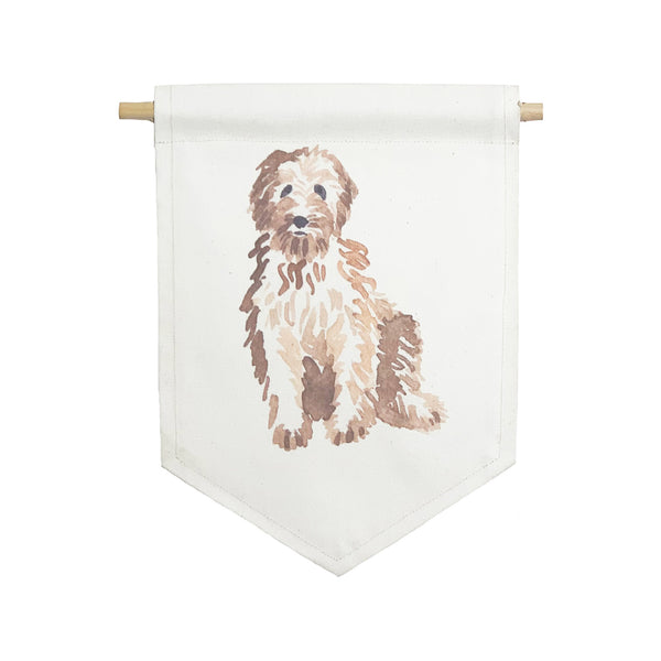 bannerlove Fluffy Dog Hanging Banner