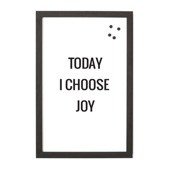 Petal Lane Home Today I Choose Joy Magnet Board Large Options Available Black Frame