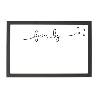Petal Lane Home Ebony Magnet Board Family Script Writing