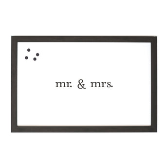 Petal Lane Home Ebony Mr. and Mrs. Classic Magnet Board Perfect Wedding Gift