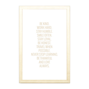 Petal Lane Home Gold Be Kind Work Hard Magnet Board