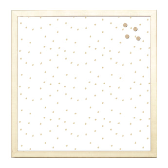 Petal Lane Home Gold Funky Dots Magnet Board