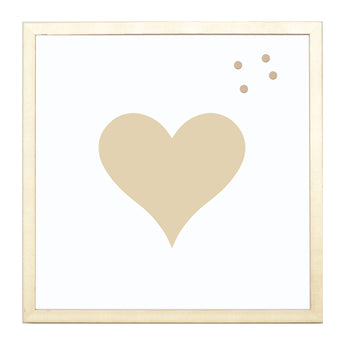 Petal Lane Home Heart Silhouette Magnet Board with Magnets