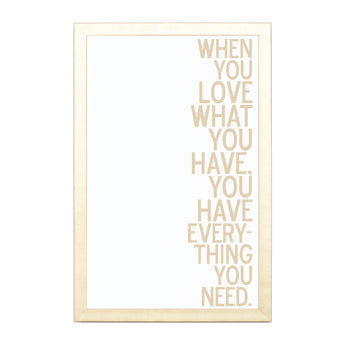 Petal Lane Home Gold When You Love Have Magnet Board Quote
